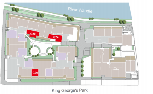 WestField House @ London Wandsworth Site Map