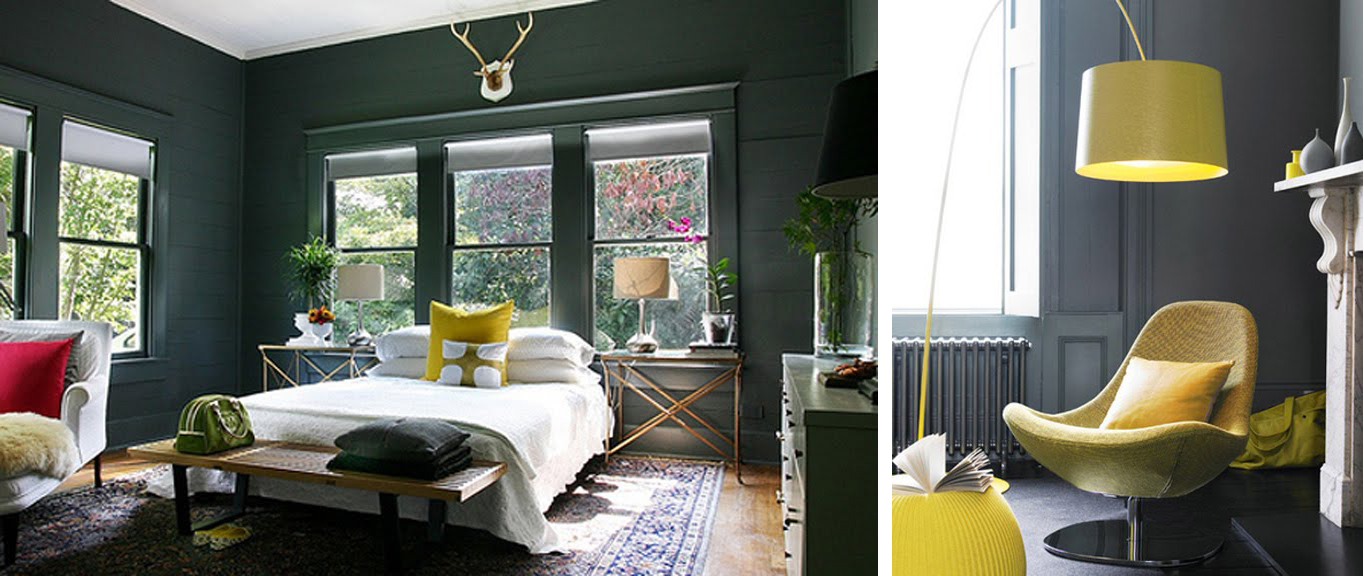 Black white yellow grey on grey with yellow - Decoration chambre bebe jaune et gris ...