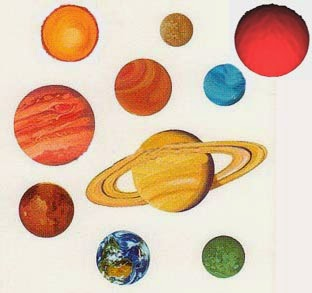 How are the colors of the planets different from each others?