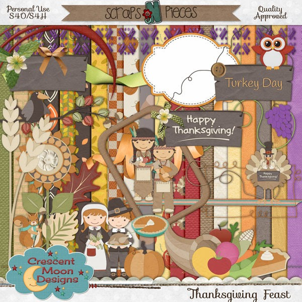 Pic of Preview of  Thanks Giving Feast by Crescent Moon Designs