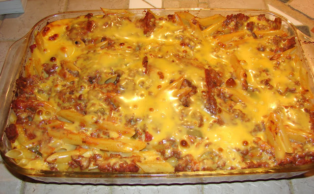 Velveeta Mostaccioli recipe pasta casserole onedish