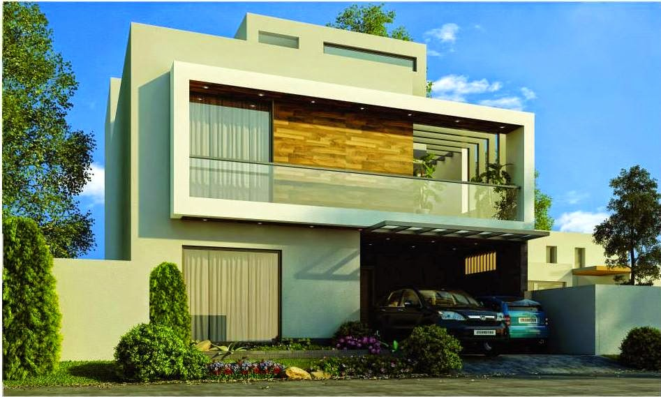 Front Elevation Of 1 Kanal Houses : One kanal contemporary house d front design