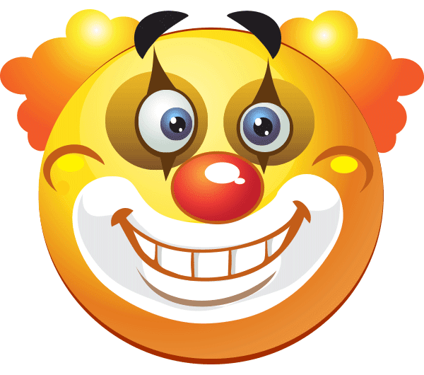 Smiley Clowning Around