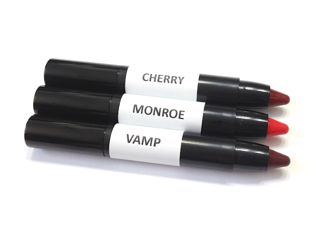 Annabelle TwistUp Retractable Lipstick Crayon - Cherry, Monroe, Vamp