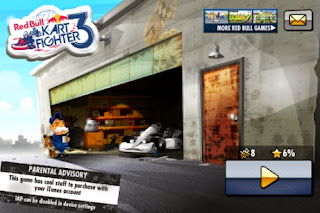 Screenshots of the Red Bull Kart Fighter for Android tablet, phone.