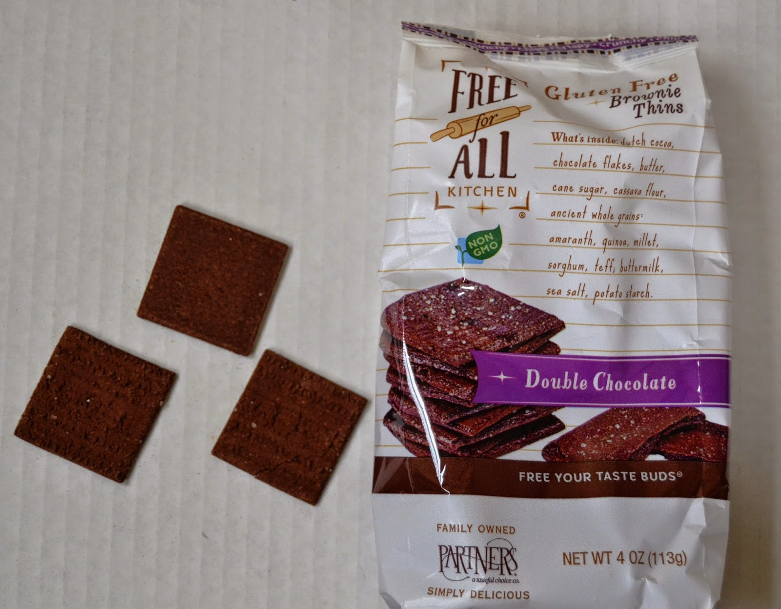 Free For All Gluten-Free Brownie Thins
