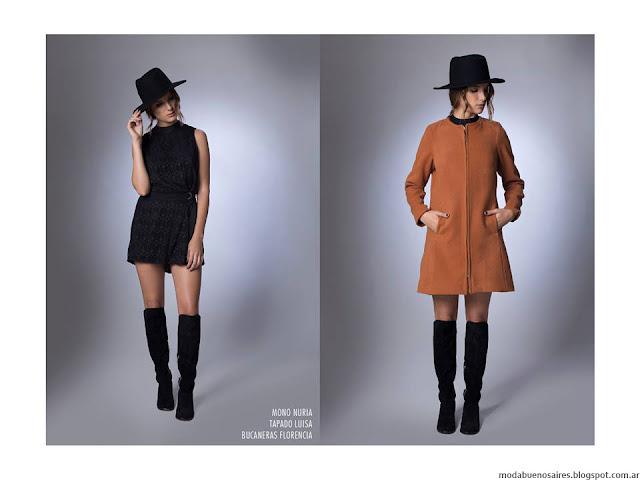 La Cofradía otoño invierno 2016. Moda invierno 2016 vestidos, tapados.