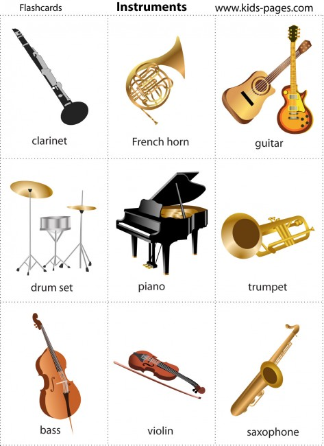 Instrument+Of+The+Orchestra+Flashcards ... !: Vamos aprender Inglês ...