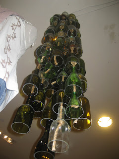 anthropologie wine bottle chandelier
