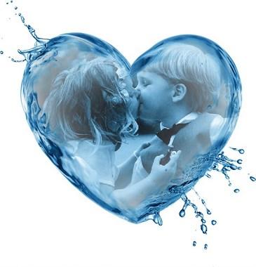 marco foto corazón
