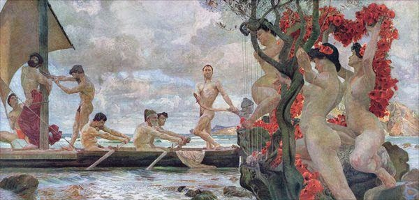 Otto Greiner - Ulysses and the Sirens
