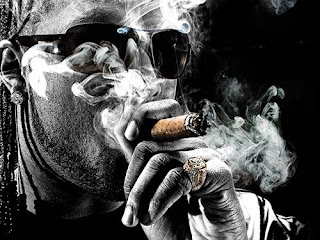 Slim Thug smoking