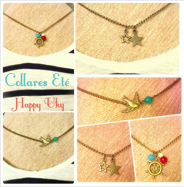 collares summer Happy Uky ete handmade colores