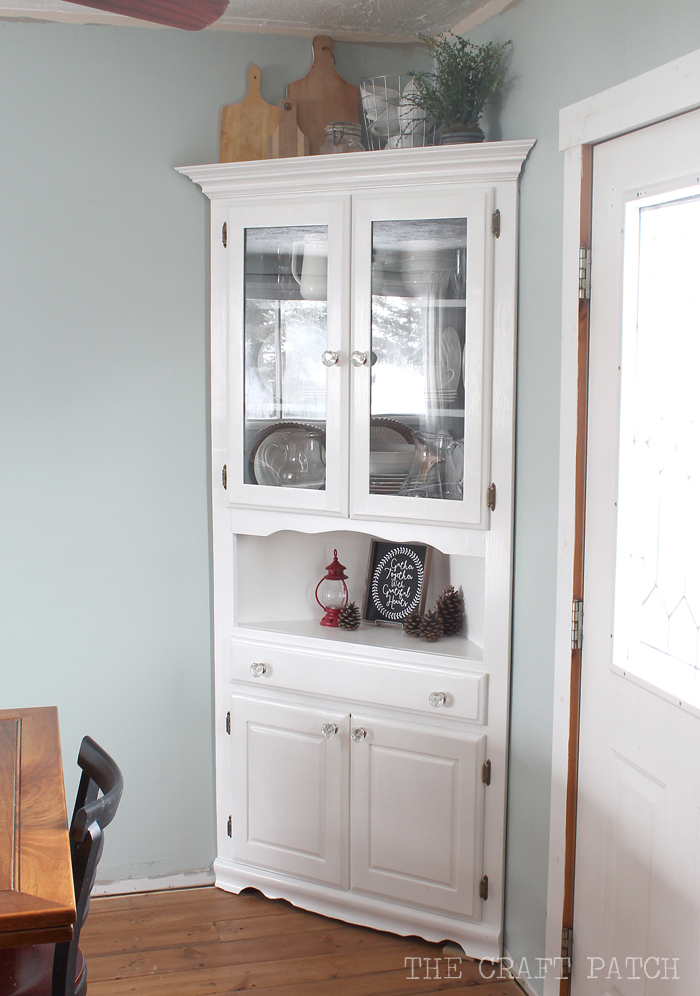 The craft patch and the cabinets came down for Dining room armoire
