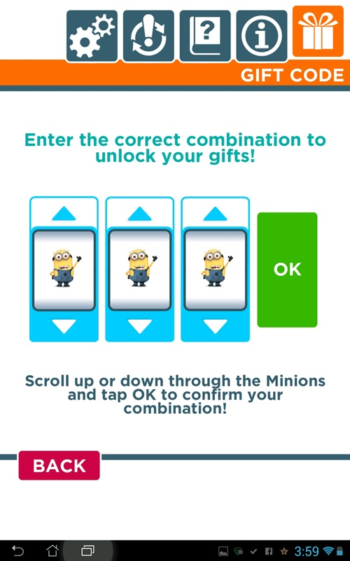 minion rush slot machine code