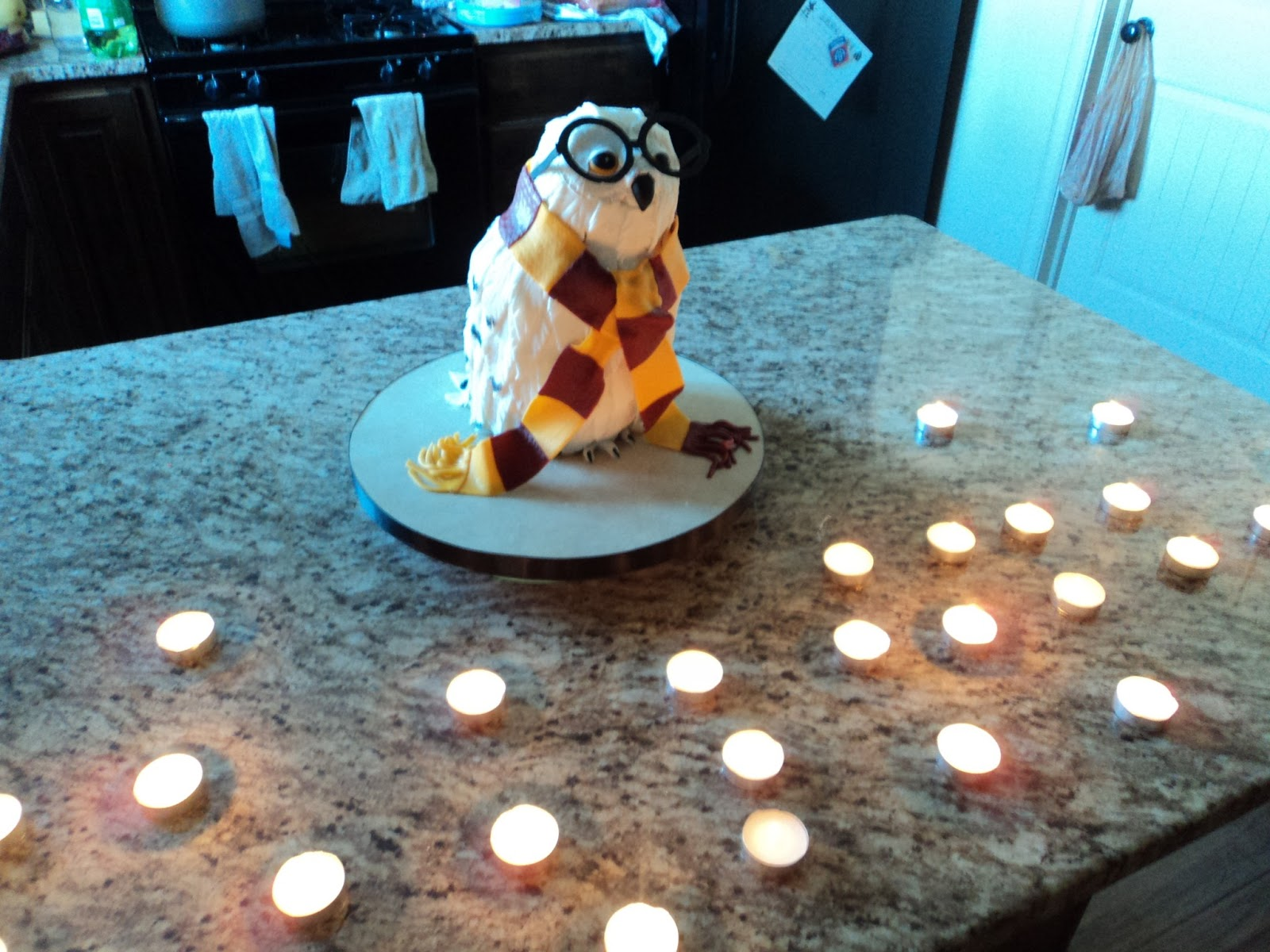 Delectable Cakes: Harry Potter Hedwig Owl Cake