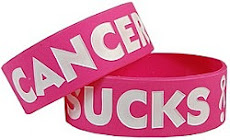 Pink Ribbon Cancer Sucks Silicone Bracelet Band
