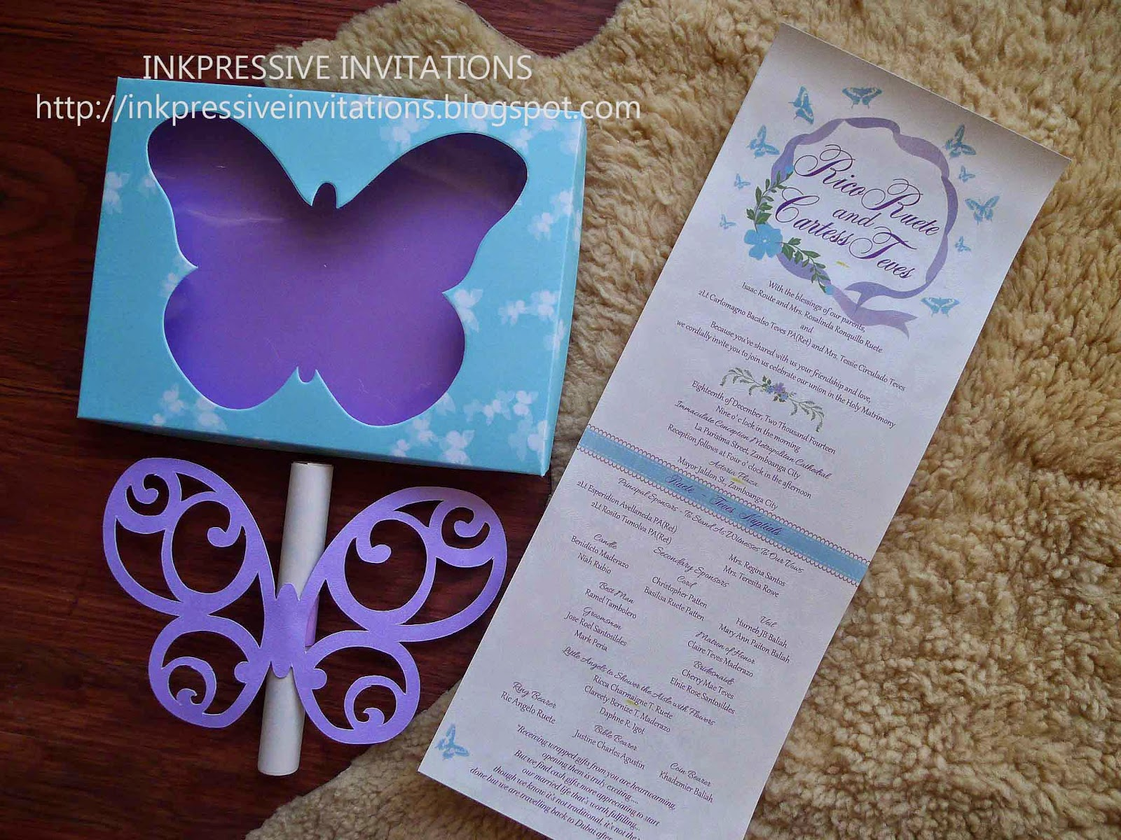 Butterfly Scroll Boxed Wedding Invitation | WEDDING INVITATIONS