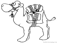 Funny Camel Cartoon Coloring Pages For Kids