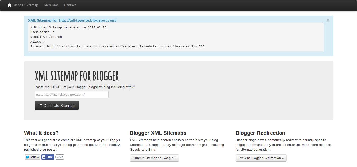 Cara mudah membuat sitemap.xml dengan sitemap generator