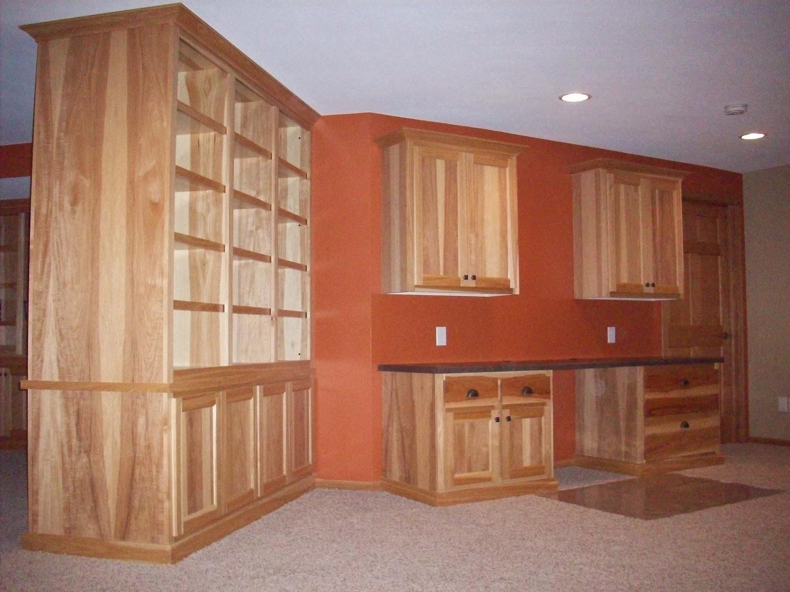 Hickory Cabinets And Oak Trim