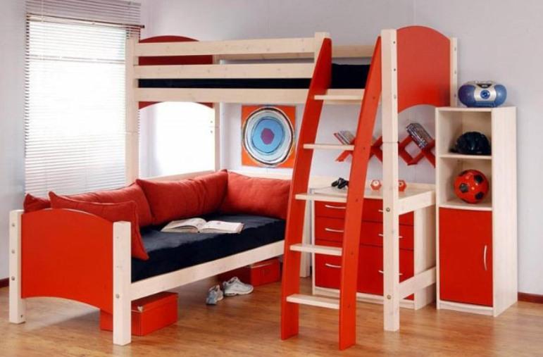 koleksi furniture minimalis kamar tidur anak laki-laki dengan desain