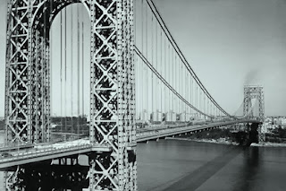 The George Washington Bridge, which connects New York and New Jersey.