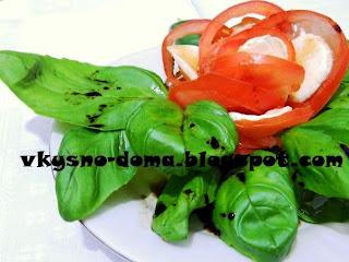 Салат  Капрезе.Итальянская кухня.
