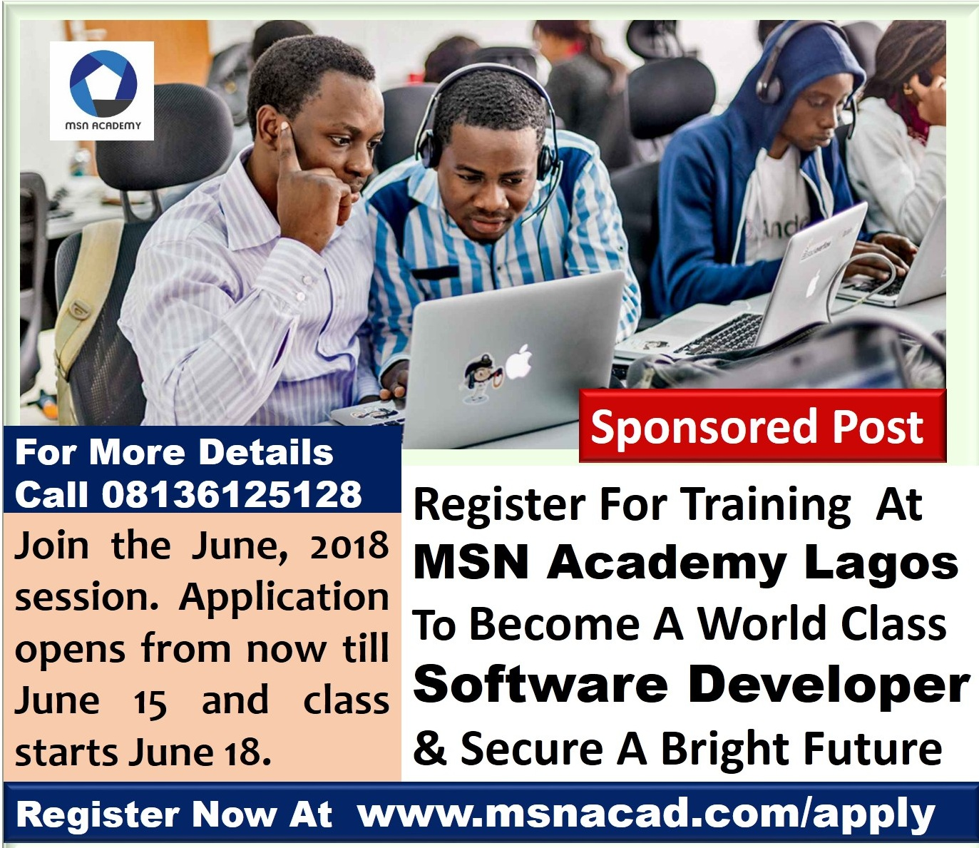 Register For Software Development Training In Lagos