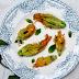 Courgette en Munt Gevulde Courgettebloemen
