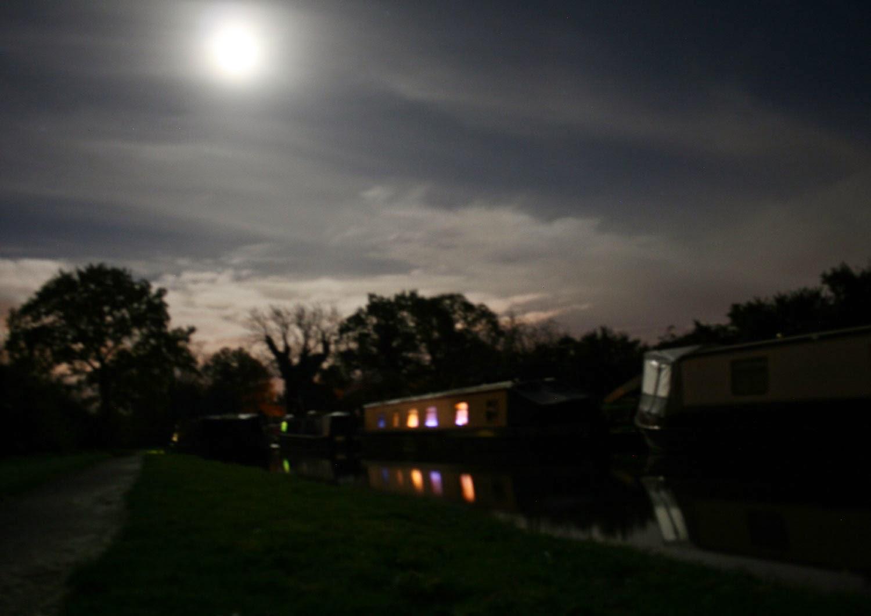 Moonlit view that night
