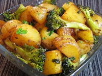 Batata com Brcolis (vegana)