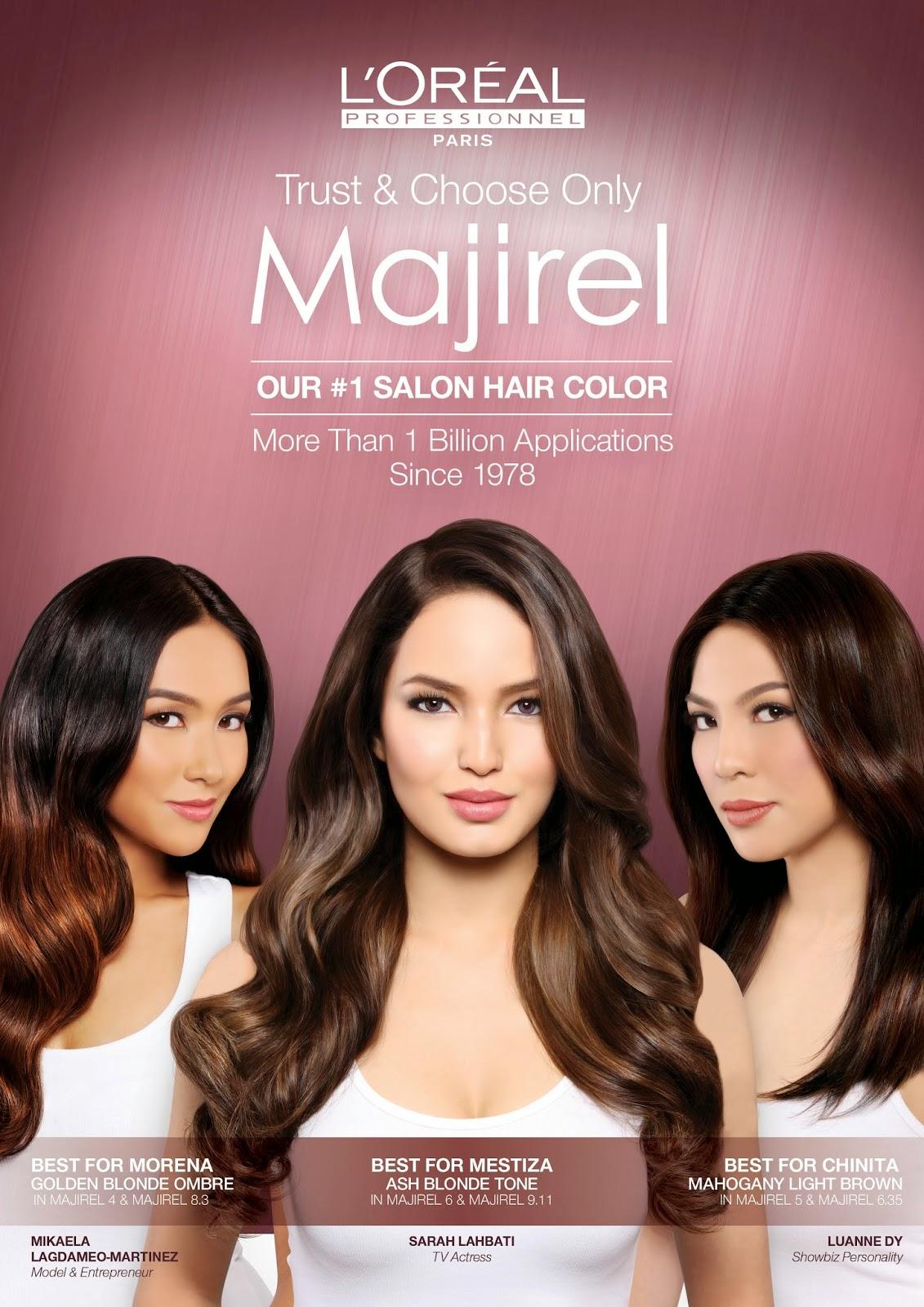 Loral Professionnel Majirel Unveils Its Filipina Endorsers Sarah
