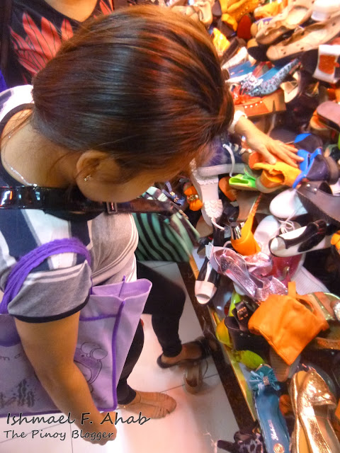 My Beloved Wife fitting shoes in Divisoria