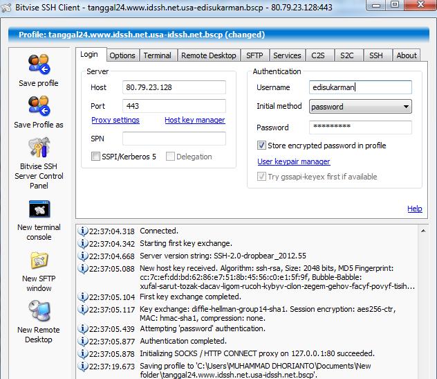 Free SSH Account USA 24 Agustus 2014