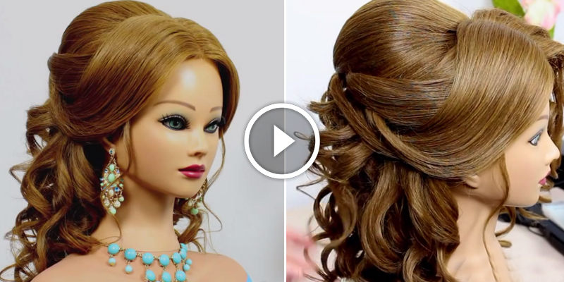 Hairstaily : Romantic Wedding Prom Hairstyle For Long Hair - Fsds9- Fashion