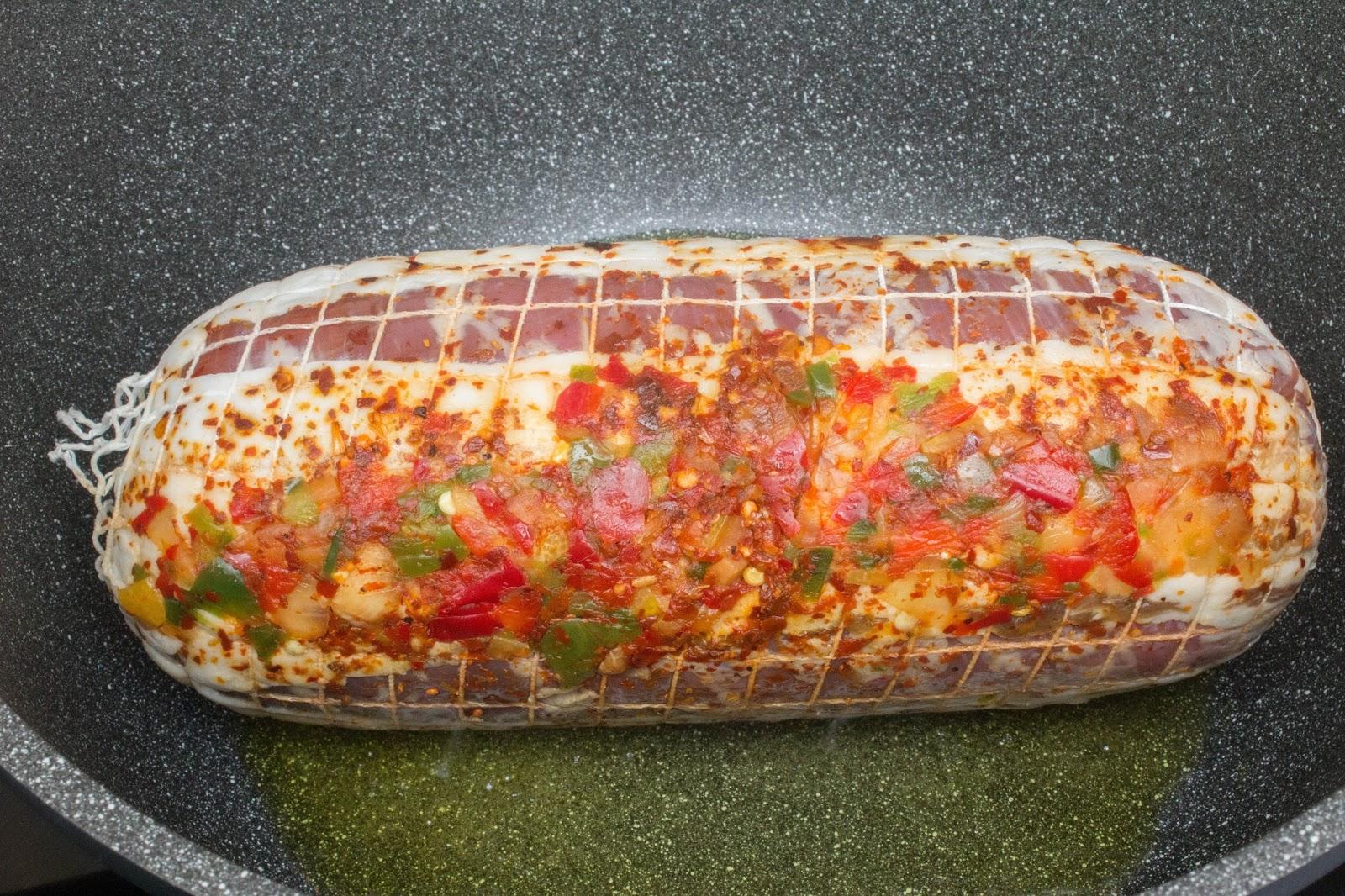 Redondo de ternera en salsa de verduras con patatas al - Redondo relleno de ternera al horno ...