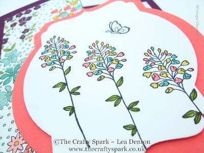 wildflower fields fancy fold card