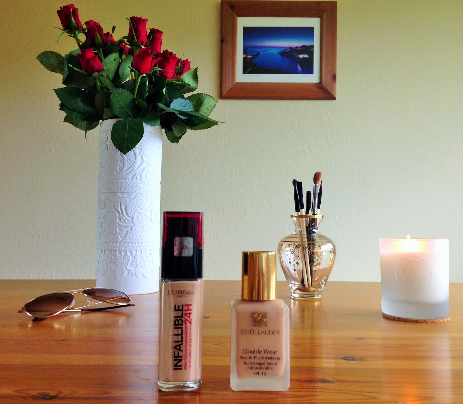 L'Oreal Infallible 24 Hour Foundation; Estee Lauder Double Wear Foundation
