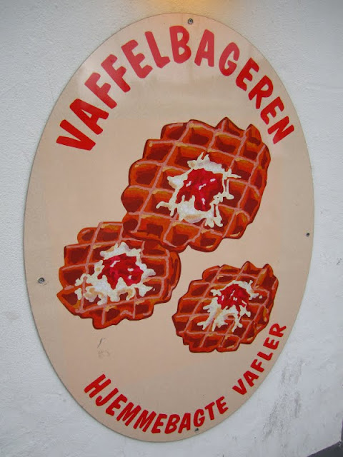 Waffle ice cream in Nyhavn, Copenhagen, Denmark.