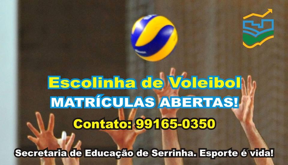 Matrículas para a escolinha de voleibol já estão abertas.