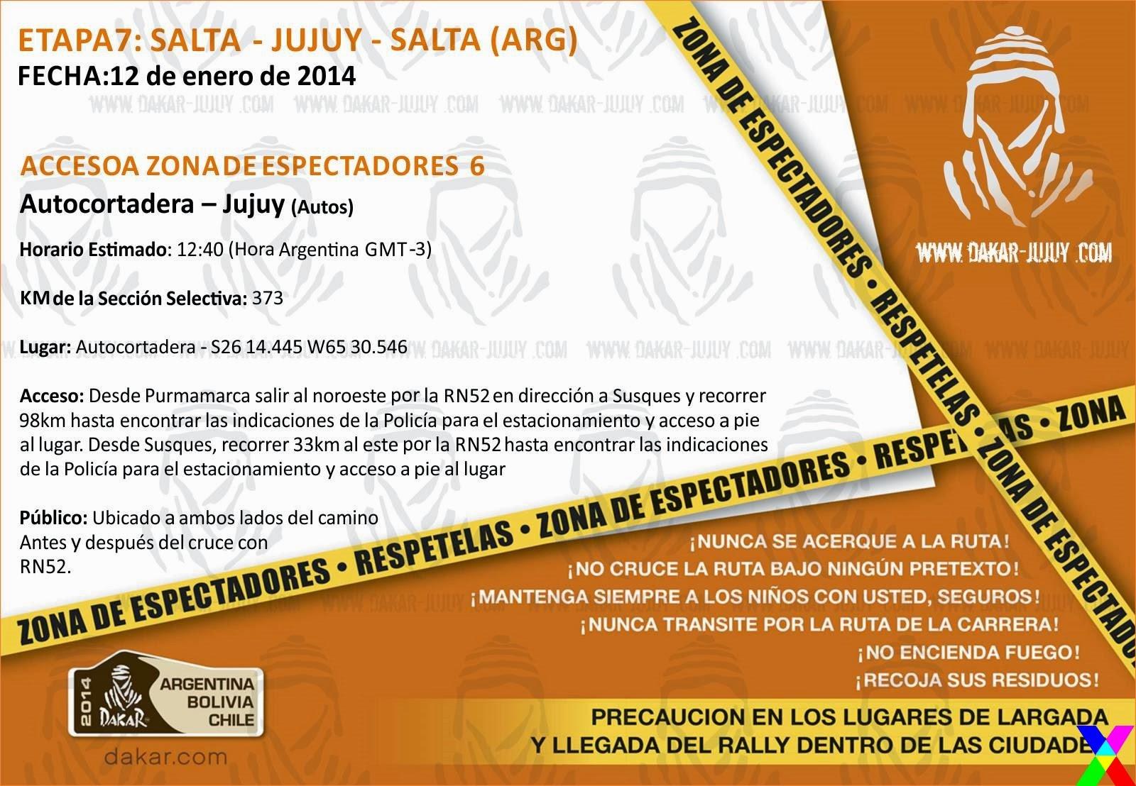 Zona de Espectadores 6 Jujuy - Dakar 2014