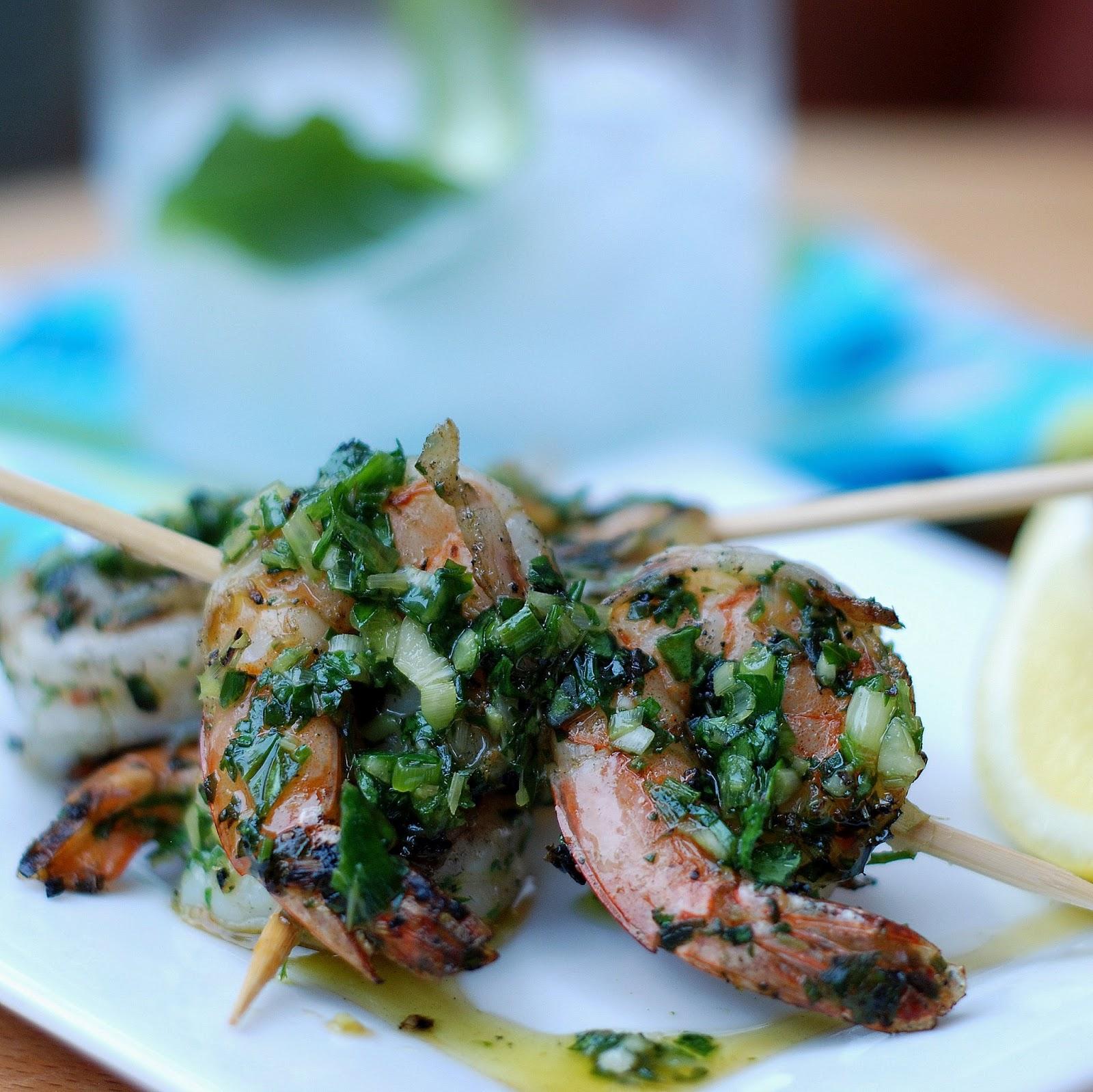 Genevieve Cooks: Lemongrass Cilantro Grilled Shrimp