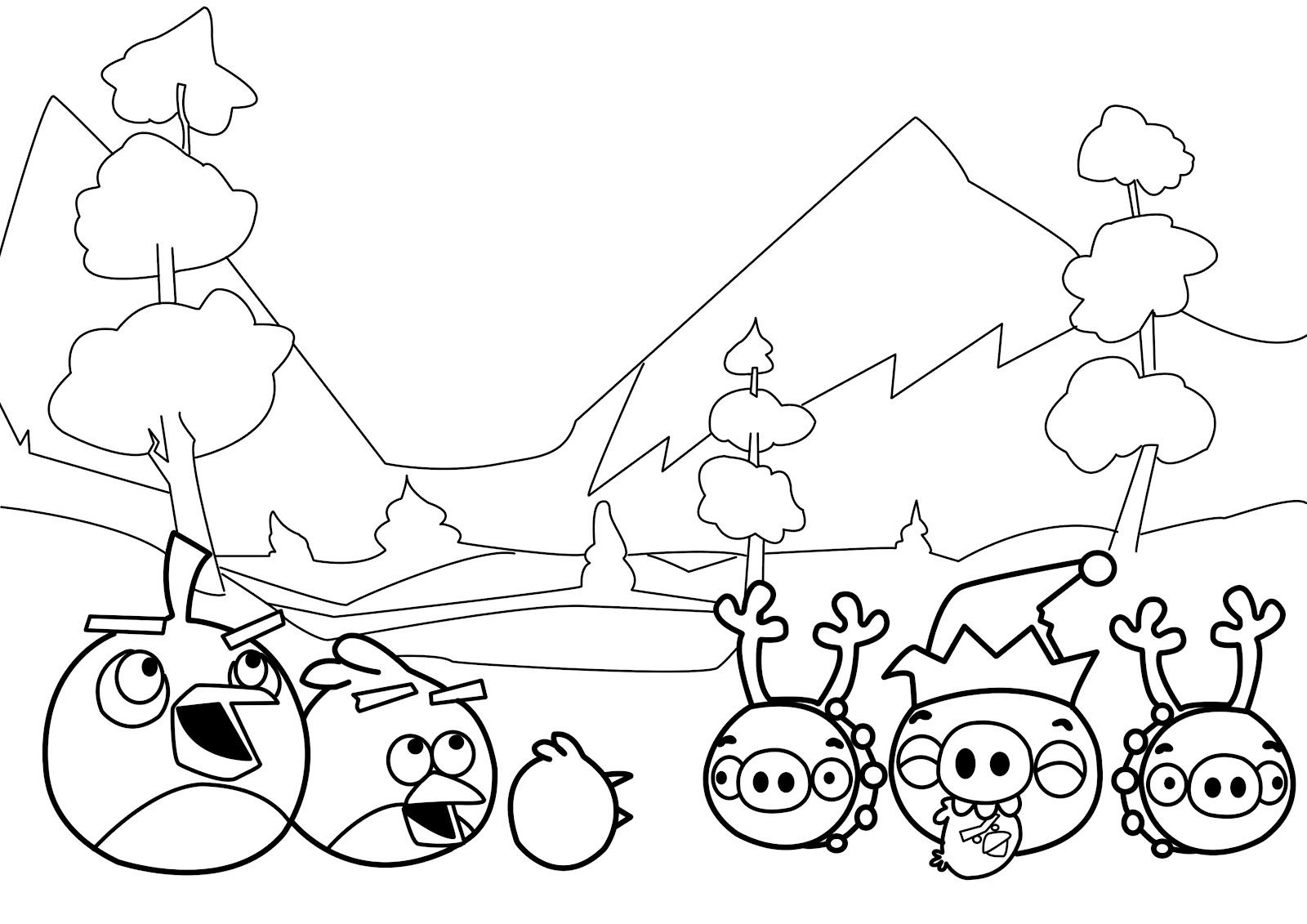 Yellow Coloring Pages Angry Bird