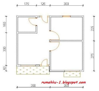 rumahku 1 denah rumah sederhana rumah type 29 72
