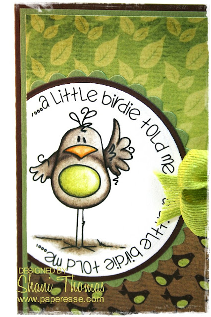 Bugaboo Birdie Told Me digital stamp detail
