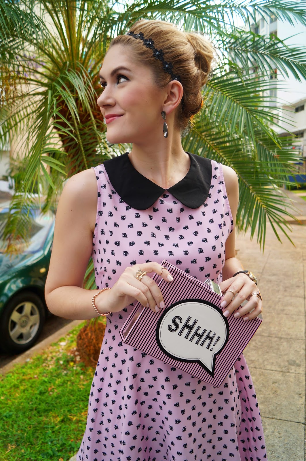 book clutch, asos clutch, chococat, chococat dress, forever21 dress, pink nails