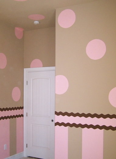Polka dots in kids rooms design dazzle for Girls bedroom paint ideas polka dots