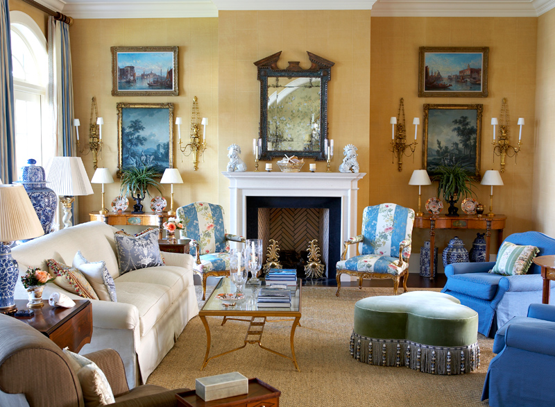 Trend for Living room ideas yellow and blue