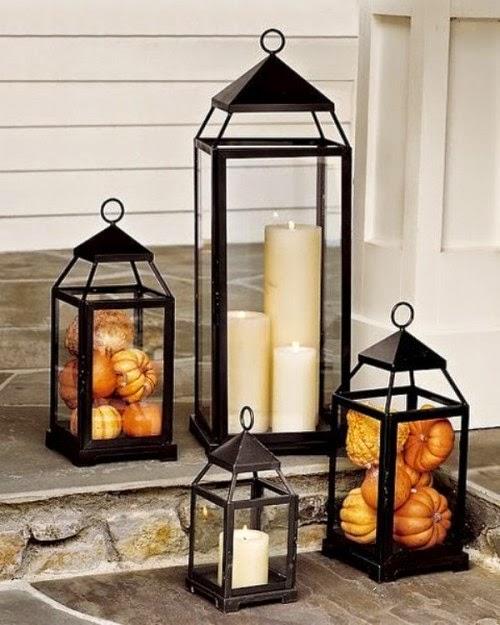 Pumpkin Filled Lanterns